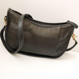 Coach vintage purse crossbody black leather